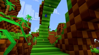 Sonic the Hedgehog has been added to 'Minecraft' through new downloadable content.
