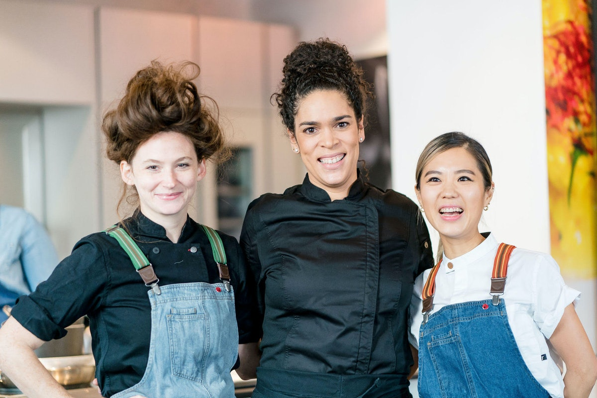Chefs Caroline Schiff, Juliet Masters, and Esther Choi in the documentary about women in the food industry.