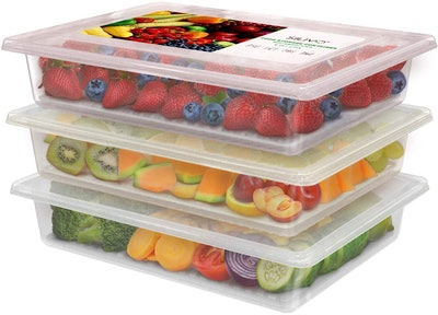 SILIVO Fridge Storage Containers (3-Pack)