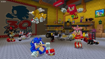Sonic the Hedgehog in Minecraft
