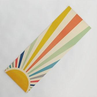 Sun Retro Art III Yoga Mat
