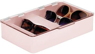 mDesign Stackable Eye Glass Storage Organizer
