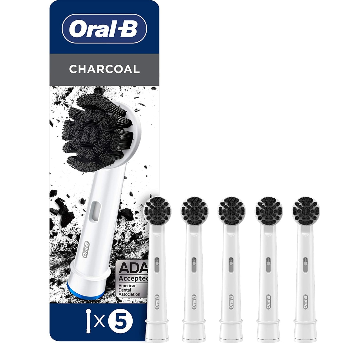 Oral-B Charcoal Electric Toothbrush Replacement Brush Heads, 5 Count