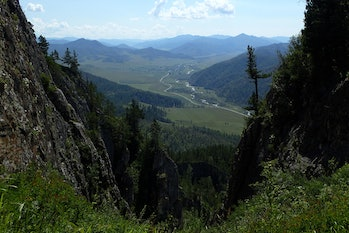 View from Denisova cave