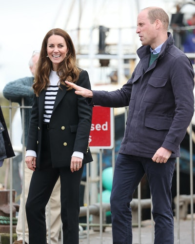 The Duchess of Cambridge during their visit Fife, Scotland on May 26, 2021, during their week-long visit to Scotland.