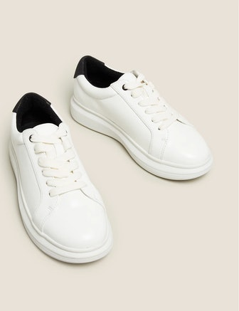 Ribbon Detail Lace Up Trainers