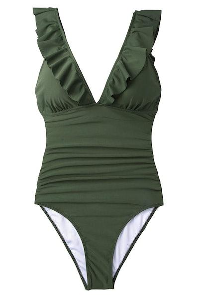 Ruffled One-Piece Swimsuit