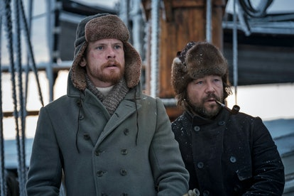 Jack O'Connell and Stephen Graham in 'The North Water'