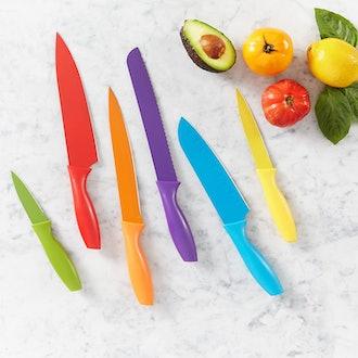Amazon Basics Color-Coded Kitchen Knife (Set of 6)