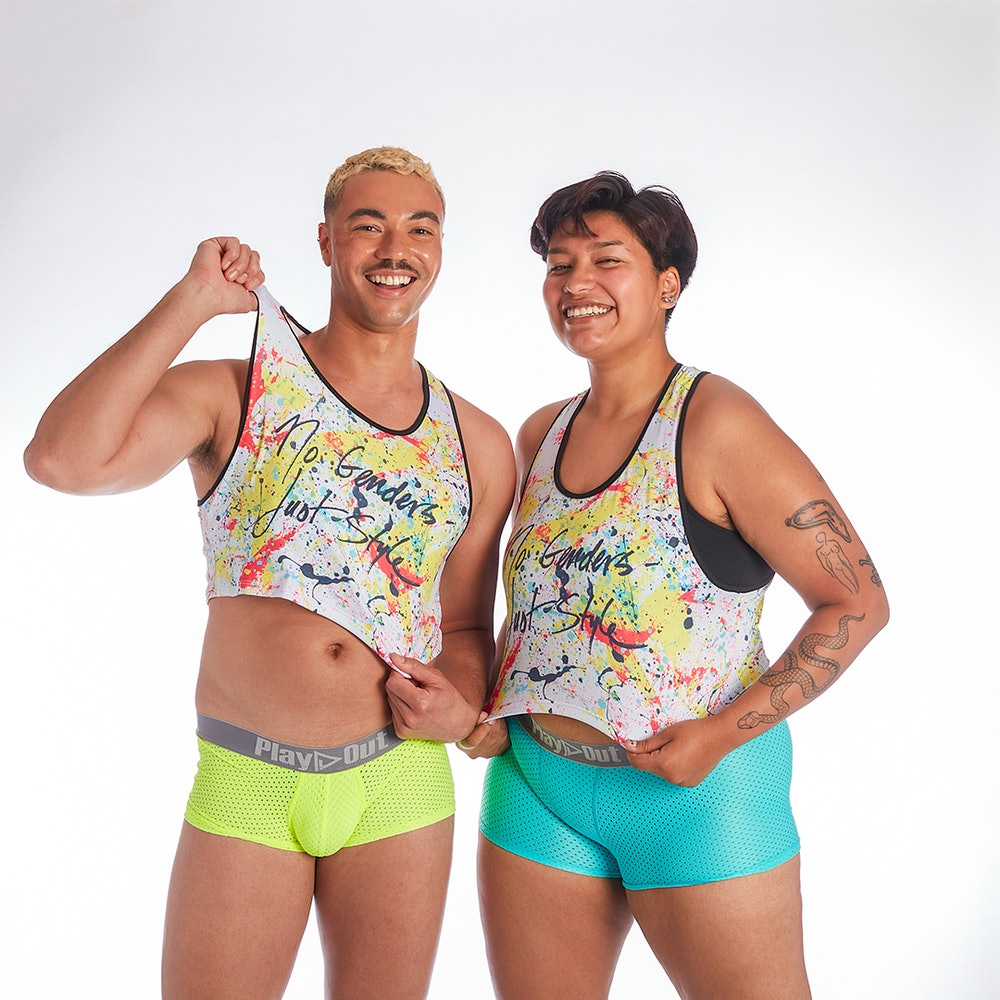 Gender-neutral underwear fashion Pride month