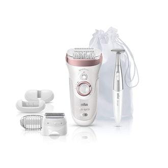 Braun Epilator Silk-épil for Women: Facial Hair Removal, Bikini Trimmer, Womens Shaver Wet & Dry