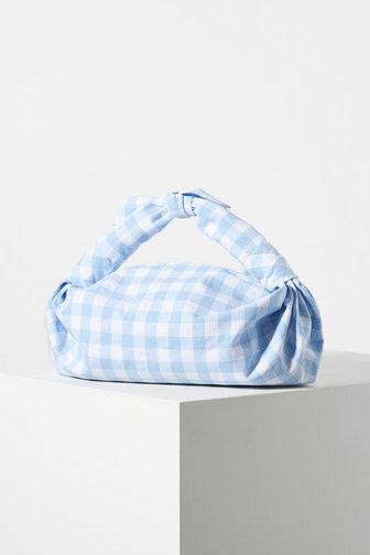 Gingham Knotted Clutch