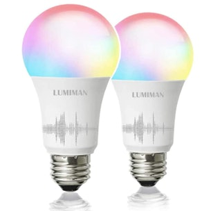 LUMIMAN Smart Wi-Fi Light Bulbs (2-Pack)