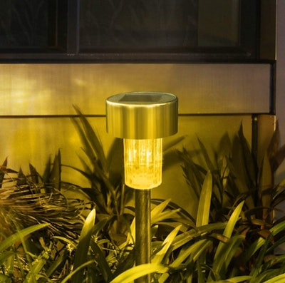SUNNEST Stainless Steel Outdoor Solar Lights (12-Pack)