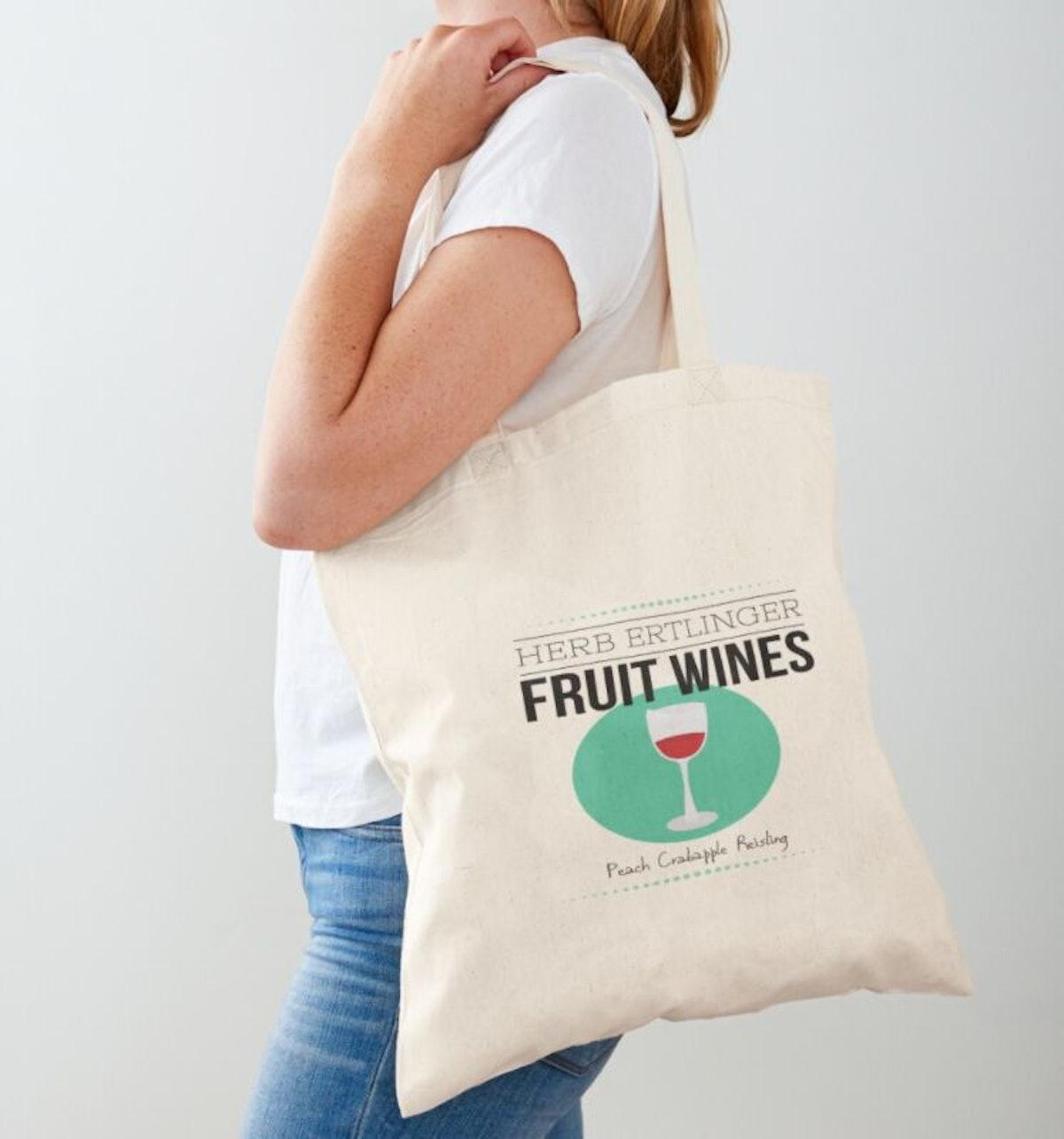 Schitts Creek Herb Ertlinger Fruit Wine Moira Rose Fan Art Tote Bag