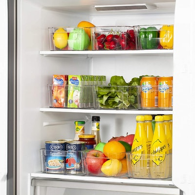 HOOJO Refrigerator Organizer Bins (8-Pack)