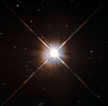 Hubble Telescope captured this image of Proxima Centauri.