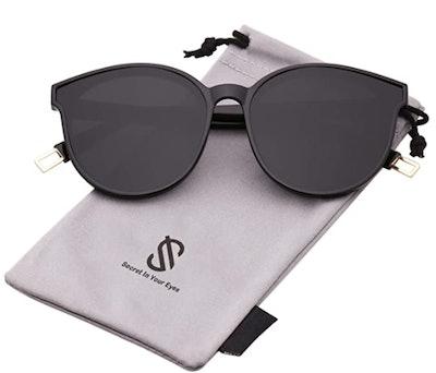 SOJOS Fashion Round Sunglasses Oversized Vintage Shades SJ2057