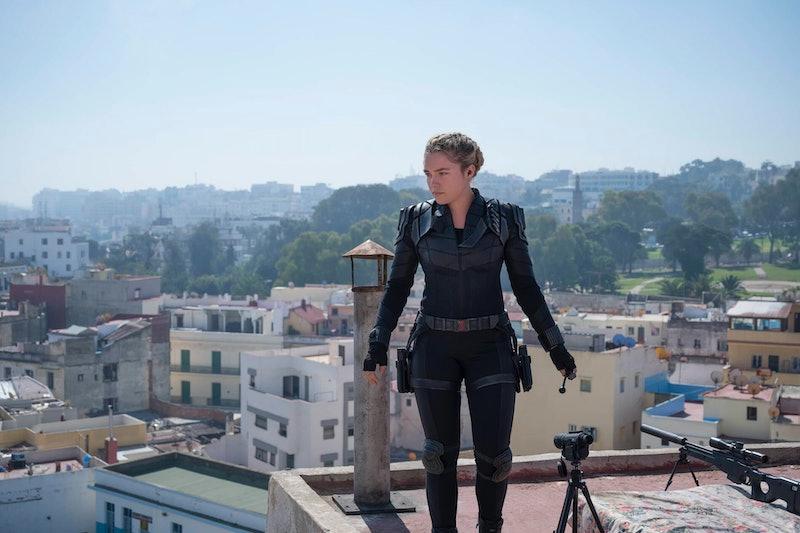 Florence Pugh stars in the MCU spy thriller 'Black Widow,' via Marvel.