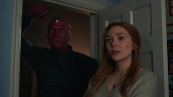 Elizabeth Olsen and Paul Bettany in WandaVision Episode 9