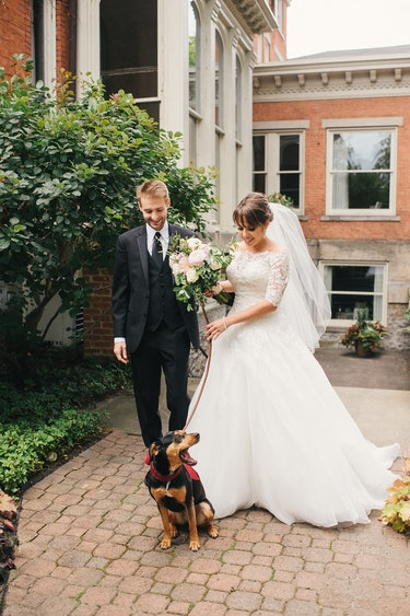 Dog at the author's wedding