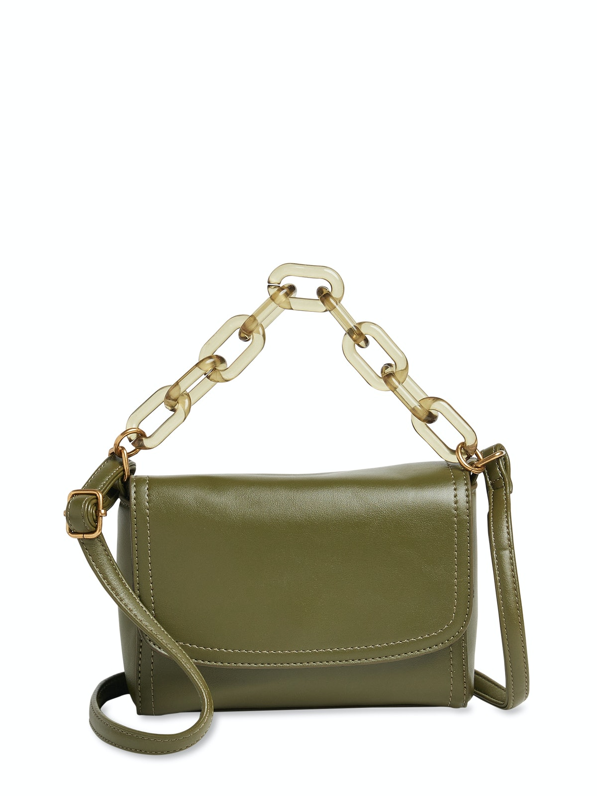 Resin Chain Crossbody Bag