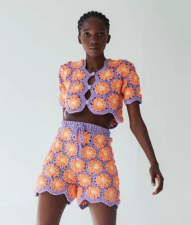 Gloria Crochet Shorts