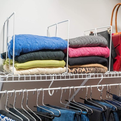 Evelots Closet Wire Shelf Dividers (8-Pack)