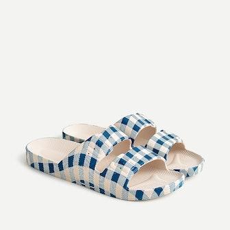 Gingham Sandals
