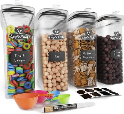 Chef's Path Cereal Containers (Set of 4)