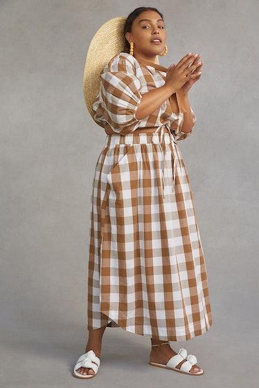 Gingham Skirt Set