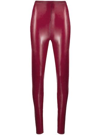 High-Waisted Glossy Leggings