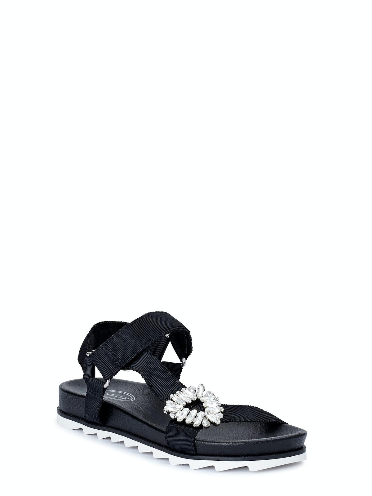 Rhinestone Embellished Sport Sandal