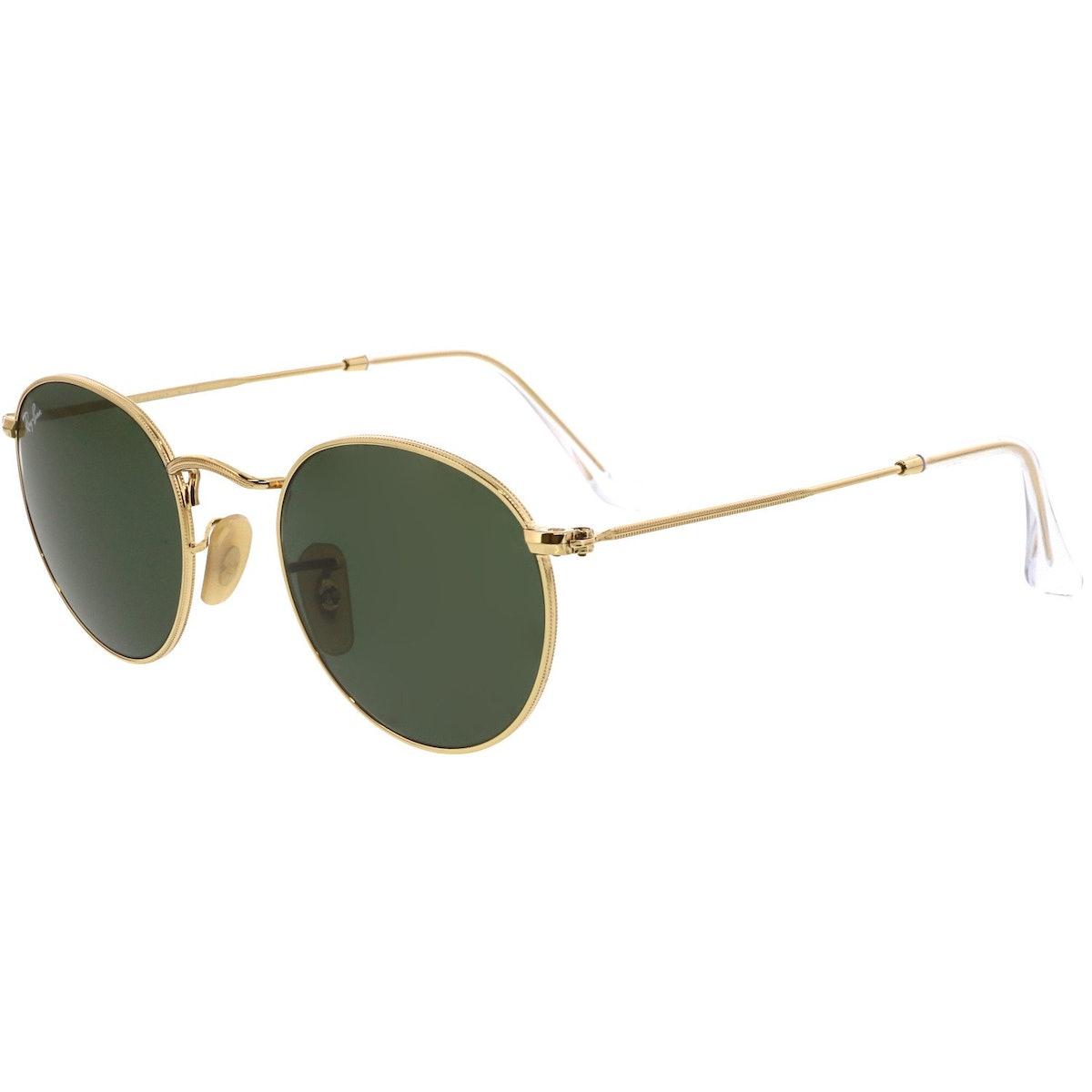 Round Metal Gold Sunglasses