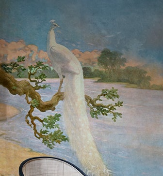 White Peacock Removable Mural