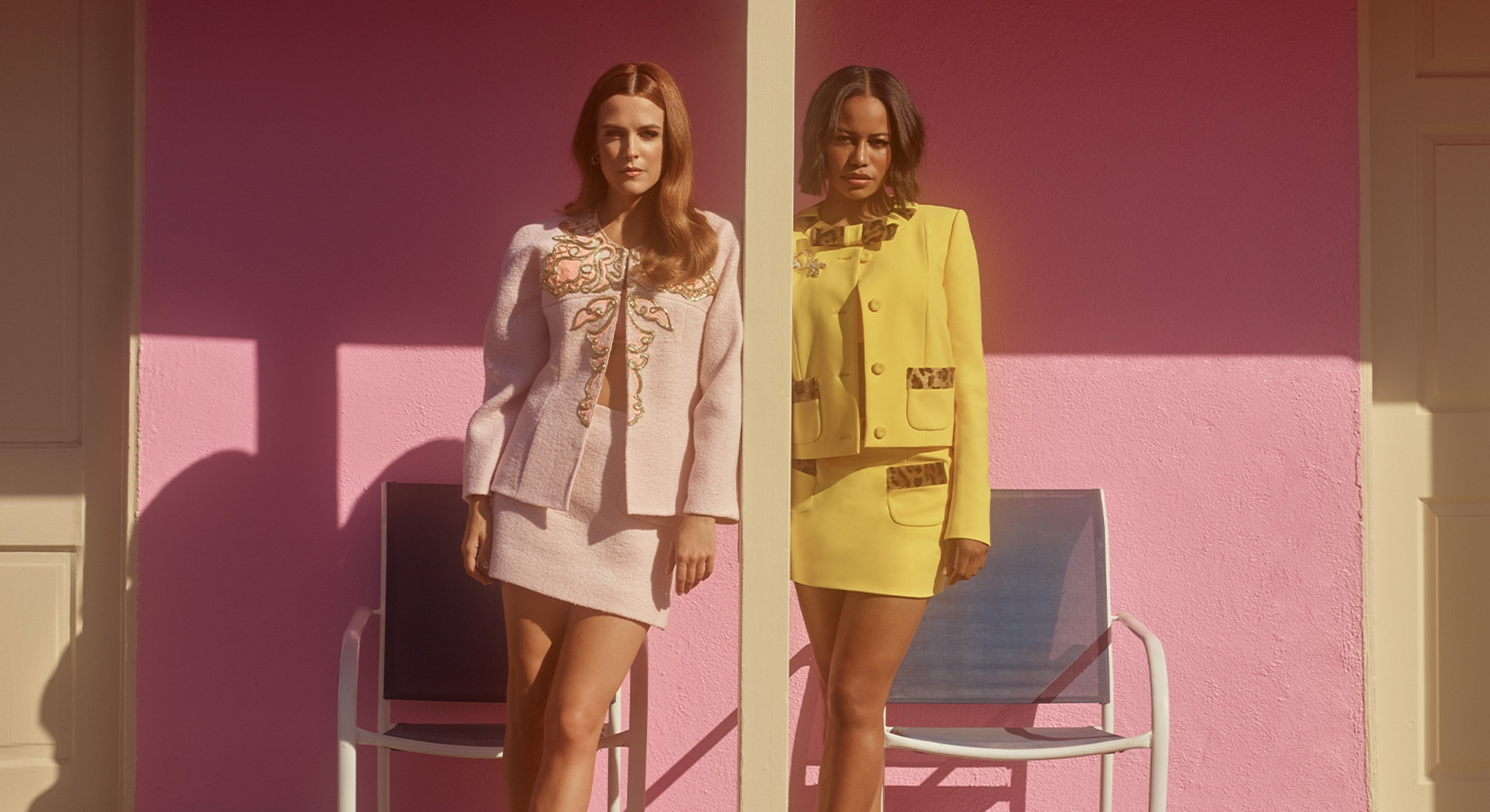 'Zola' stars Riley Keough and Taylour Paige pose for Bustle's cover.