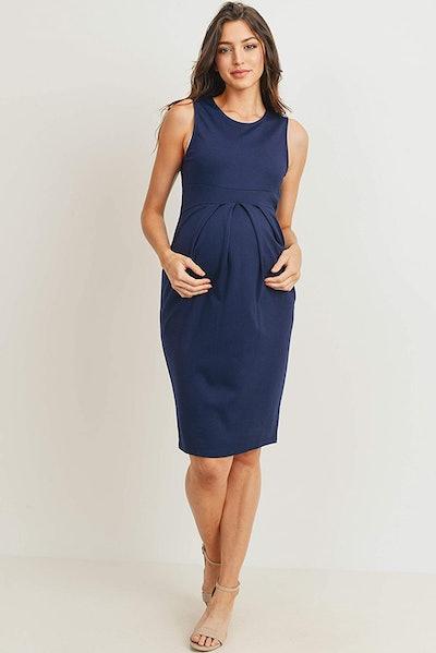 LaClef Midi Maternity Dress