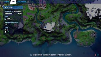 fortnite alien light location 1 map