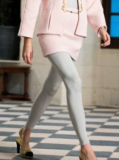 Wool Tweed Light Pink Skirt
