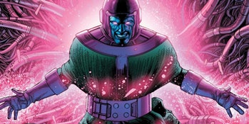 Kang the Conqueror surrounded in pink light