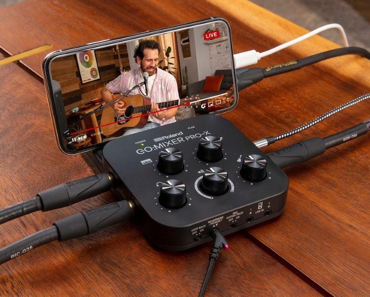 Roland has unveiled the GO:MIXER PRO-X, a portable audio mixer for smartphones.