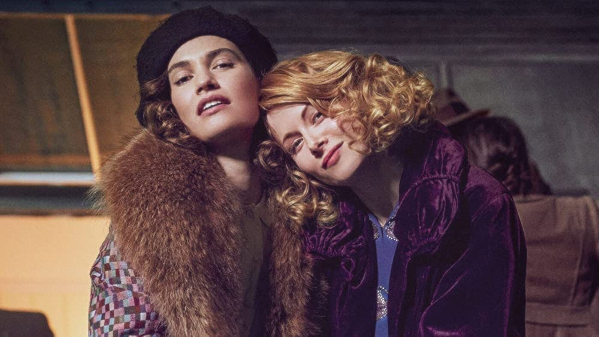 Lily James and Emily Beecham in The Pursuit of Love