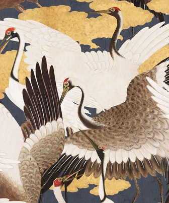 Cranes Wallpaper (Two Rolls) in Sora from the Kingdom Home Collection