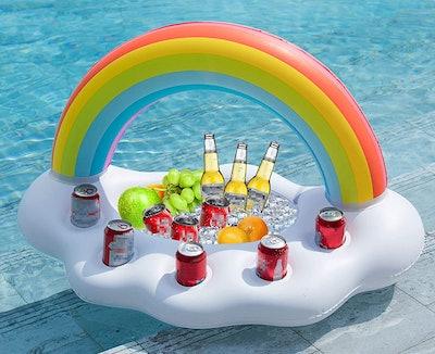 Jasonwell Inflatable Rainbow Cloud Drink Holder