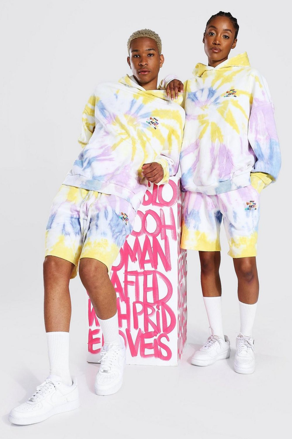 Pride Tie Dye Who I am Short Hooded Tracksuit