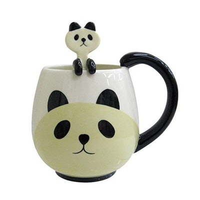 Decole Panda Mug and Spoon
