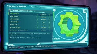 ratchet and clank toggles and assists menu