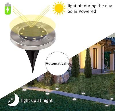 GIGALUMI Solar Ground Lights (8-Pack)