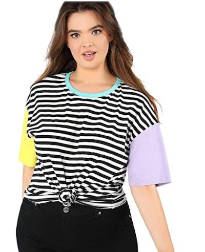 Romwe Striped T-Shirt