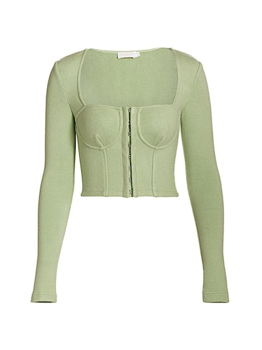 Elle Bustier Heavy Ribbed Knit Top